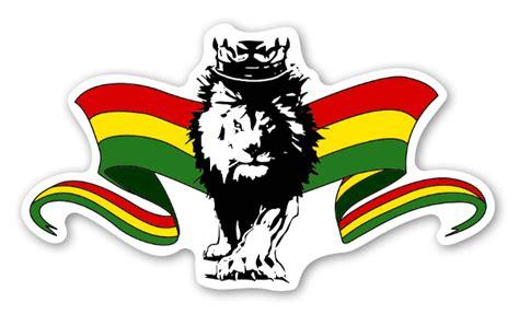 rasta lion with flags stickerapp