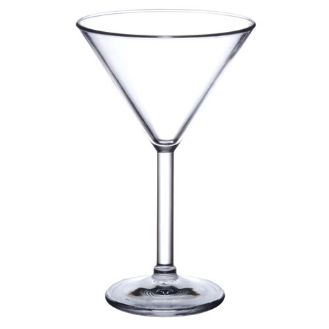 martini glass polycarbonate elite premium 7oz martini glass x 4pk