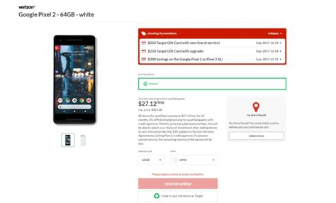 Verizon 200 Gift Card - deal pixel 2 and pixel 2 xl get up to 75 discount at google store up to 550 off at