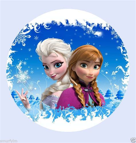 details  frozen disney elsa anna princess  cake topper edible rice paper birthday