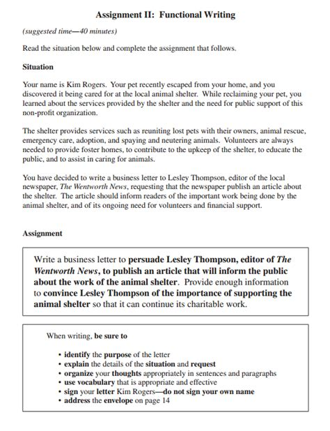 personal business letter assignment practical applications for la ohm