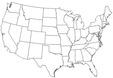 us map with states blank outline blank map of united states