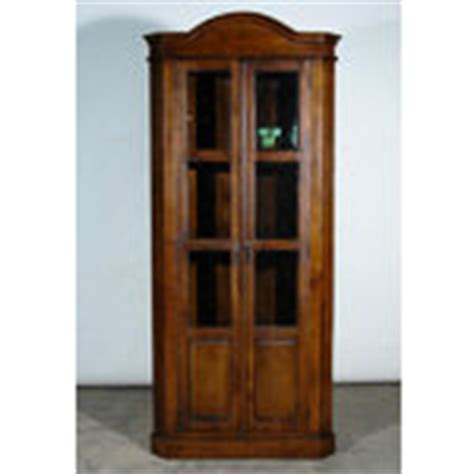 antique mission style corner bookcase curio cabinet