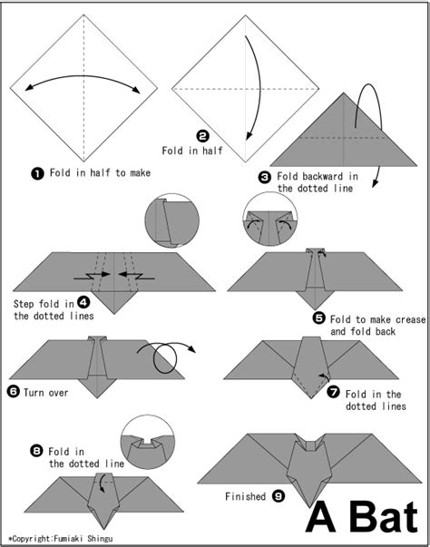 How To Make A Bat With Paper - origami bat origami and paper folding