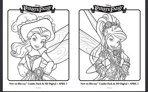 free pirate fairy coloring pages and activity sheets