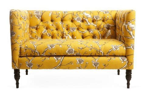 Where To Buy Settees Elizabeth Tufted Settee Yellow Cherry I Ve Been