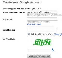 masalah saat membuat akun gmail cara membuat akun youtube agar anda dapat upload video di