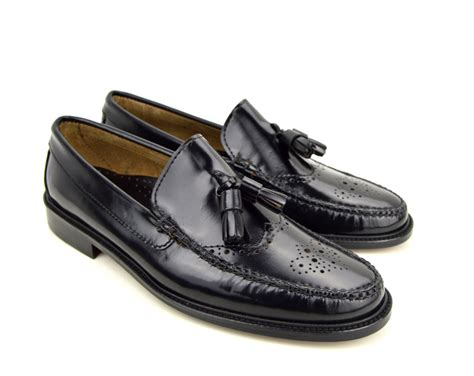 brogue tassel loafers tassel loafer brogues in black the lord brogue mod shoes