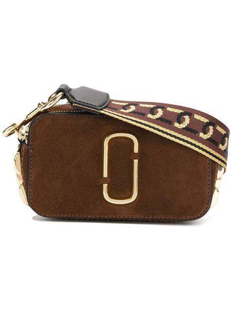 Mj Marc Snapshot Black Brown Marc Snapshot Small Bag In Brown Lyst