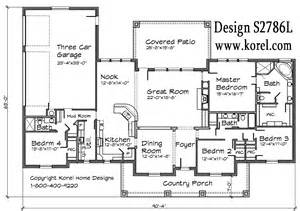 Texas House Plans Texas Hill Country Ranch S2786l Texas House Plans Over