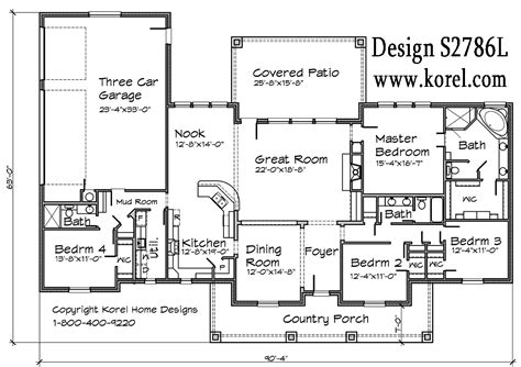 home house plans hill country ranch s2786l house plans
