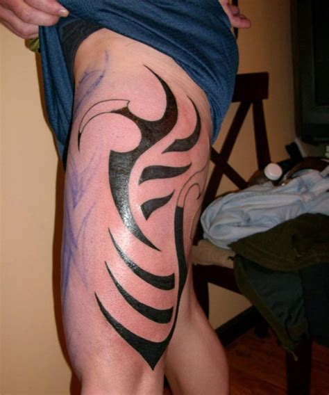 tribal tattoo upper thigh 40 exciting thigh tattoos creativefan