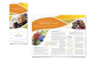 home health care brochure templates assisted living brochure template design