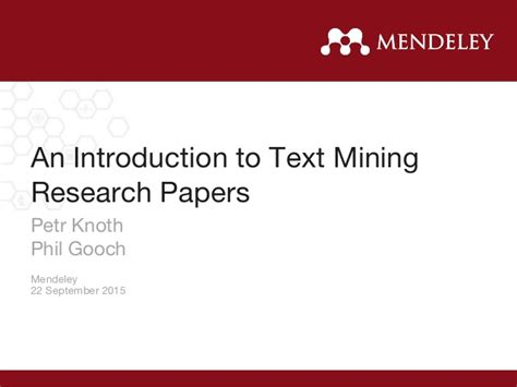 Text Mining Research Papers 2015 uksg webinar introduction to text mining research papers with petr