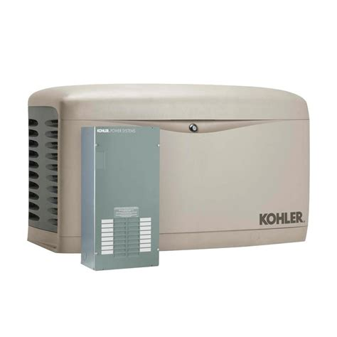 kohler 14 000 watt air cooled standby generator with