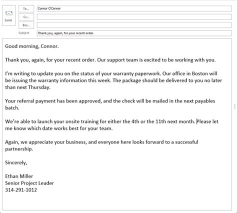 email format good morning how to write effective business emails