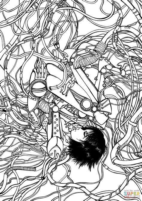 Gally from Gunnm Battle Angel Alita coloring page | Free