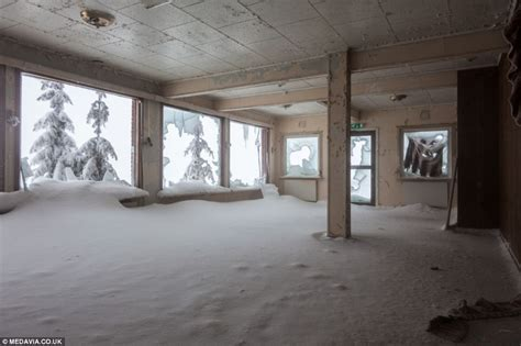 Inside abandoned Bislingen mountain lodge in Norway