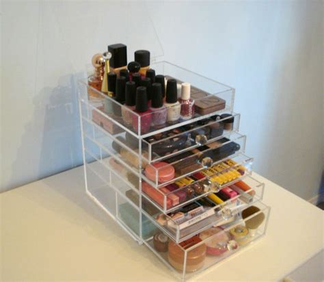 kim kardashian makeup organizer in her bathroom details about acrylic lucite makeup organizer clear cosmetic storage 5 drawers lid