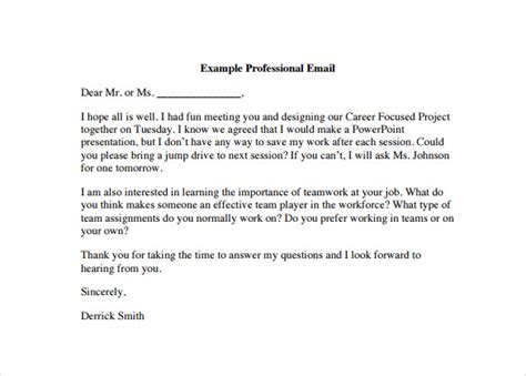 professional email template 7 download free documents