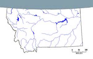 Montana Rivers Map by Map Of Montana Rivers