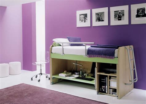 multifunction furniture bedroom purple color with