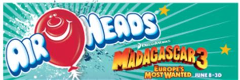 Airheads Sweepstakes - airheads 174 quot win a private screening of madagascar 3 europe s most wanted