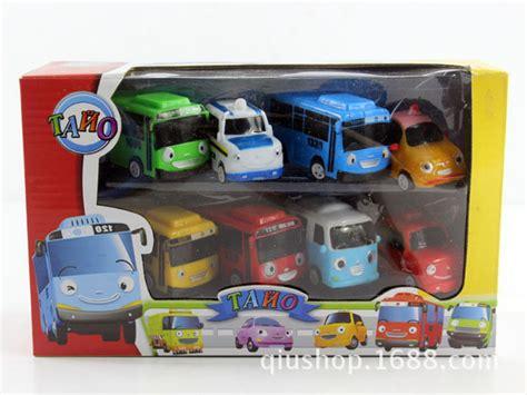 Mainan Anak Murah Tayo The Satuan 8 pcs 1 set sedikit tayo mini trek balap mobil mainan 20 cm 6 3 cm kotak hadiah anak anak