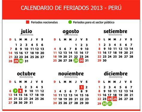 Calendario 2018 Con Feriados Peru Almanaque 2013 Feriados Peru Imagui