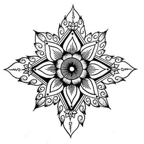 tattoo mandala tribal flower outline tribal mandala looking tattoo