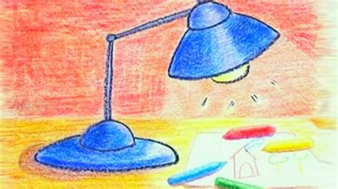 learn how to draw a table lamp danny amp daddy youtube