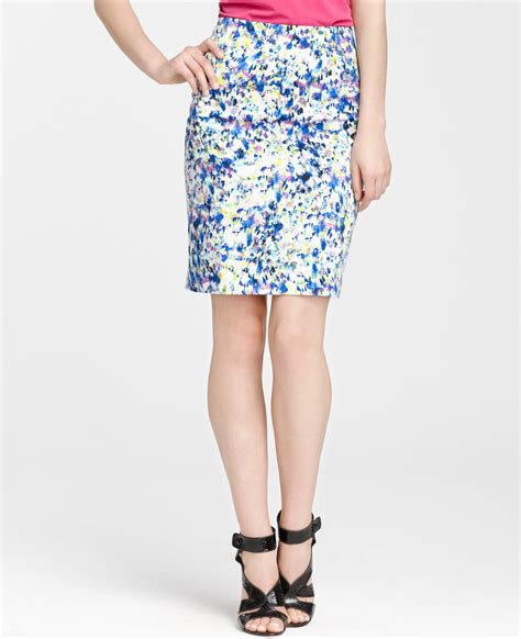 floral print pencil skirt in