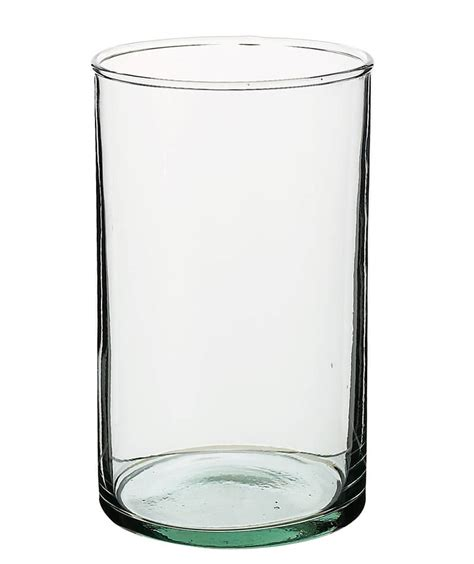 Glass Photo Vase clear glass cylinder flower vases 4x6