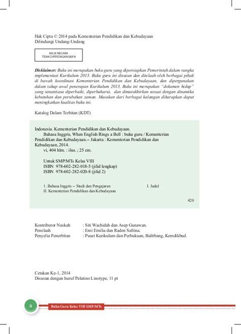 Software Cd Belajar Bahasa Inggris Sd Kelas 2 Original bahasa inggris smp kelas 8 buku guru kurikulum 2013