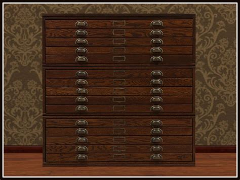 map drawer cabinet wood second life marketplace re old wood map chest one prim
