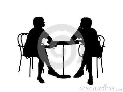 zwei frauen die am tisch sitzen stockbild bild 30201931