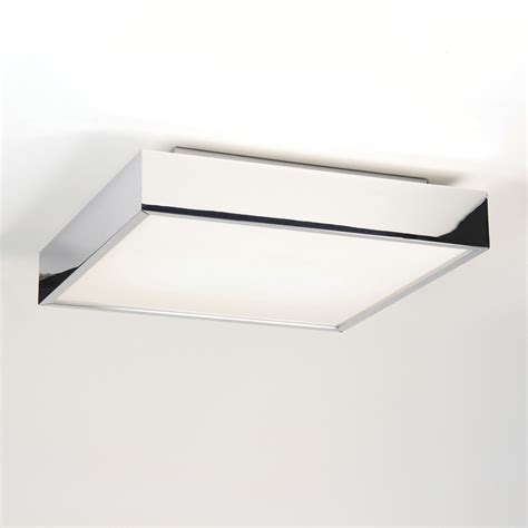 Led Bathroom Lights Ceiling Astro Taketa 7159 Led Square Bathroom Ceiling Light 17 7w Polished Chrome Ip44 Ebay