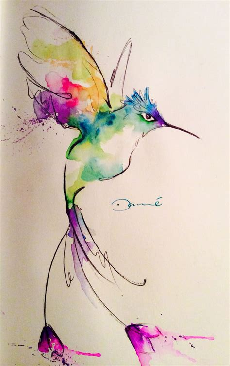 old watercolor tattoo best 25 watercolor hummingbird ideas on
