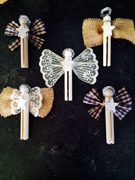 clothespin christmas angels use as ornament and attach at