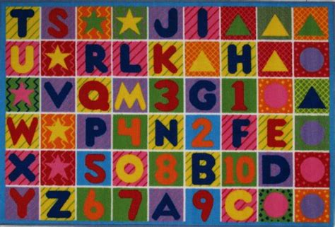 abc rug la rug numbers letters rug 8 x11 home decor