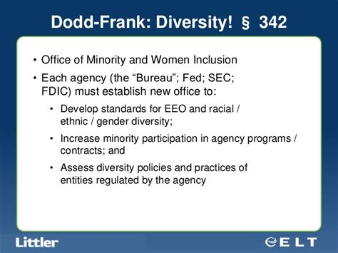 Dodd Frank Section 342 by 2011 Employment Update