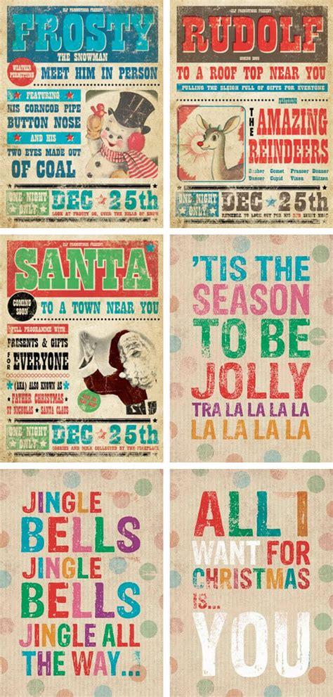 printable xmas posters dwelling by design retro christmas