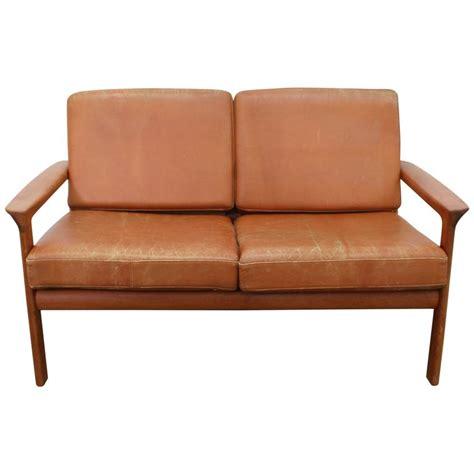 cognac leather sofa modern cognac leather sofa loveseat with teak frame scandinavian