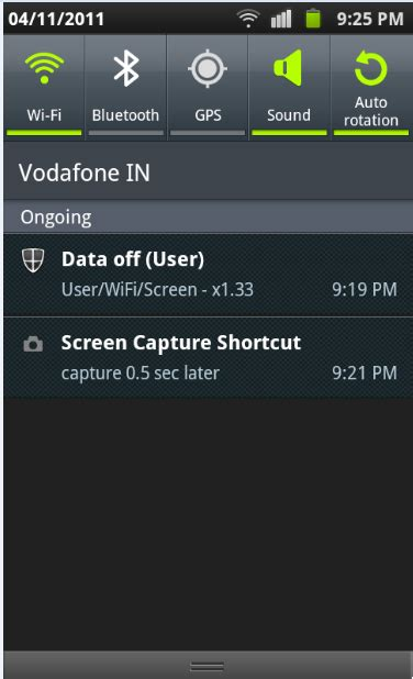 how to capture and save screenshots in android daily tech tutorials - Android Status Bar