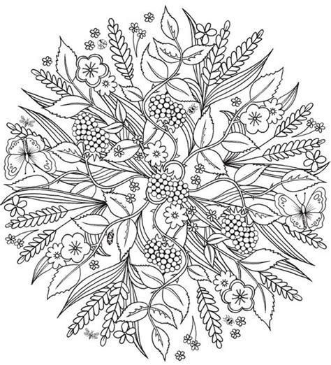 mandala coloring pages nature the world s catalog of ideas