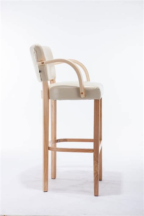 Lionel Bar Stools by Bar Stool Lionel With Armrests Rubber Wood Modern Barstool