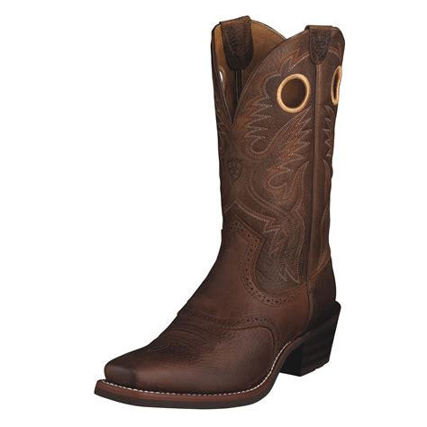 ariat boots pungo ridge ariat s heritage roughstock boot brown