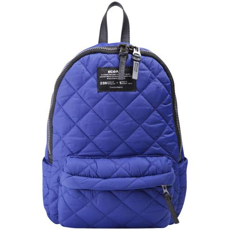 ecoalf mini oslo quilted backpack blue klein womens