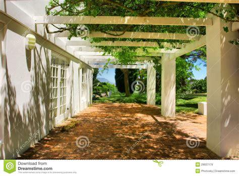 terrazzo coperto terrazzo coperto dall uva e dall edera immagine stock