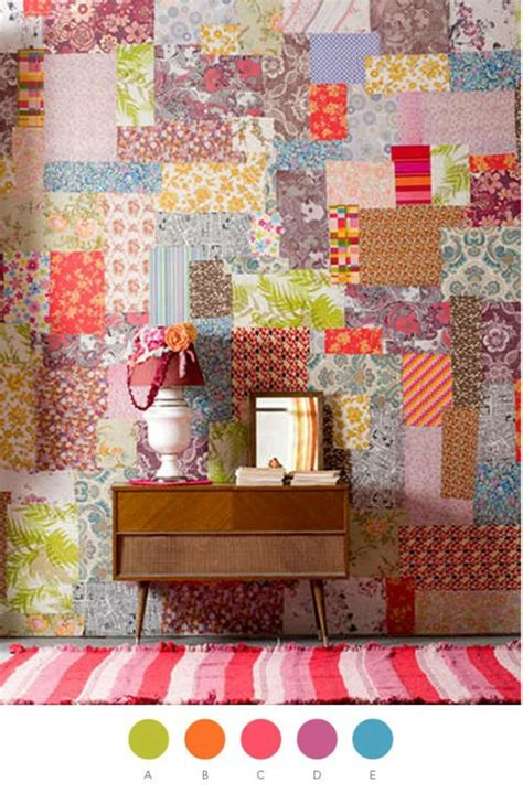 Wallpaper Patchwork - wanddekoration in patchwork stil in der wohnung